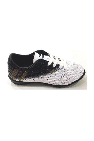 24289 Erkek Çocuk Halı Saha Futbol Spor Ayakkabısı, 31-35 Numara, Siyah&beyaz