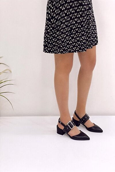 Siyah Kadın Klasik Topuklu Ayakkabı 5007-20-119006