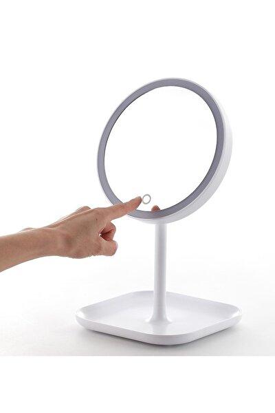 - 1x-5x Büyütmeli 23 Led Işıklı Makyaj Aynası, 360 ° Döner, Dokunmatik Sensörlü, Kablolu