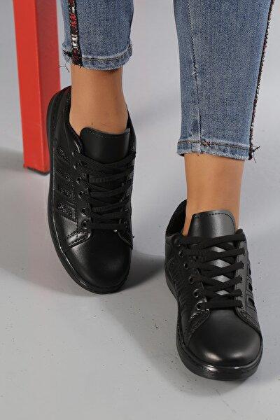 Siyah-Siyah Kadın Sneaker M4000-19-101001R
