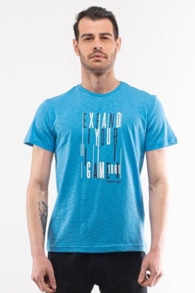 KNOCK Erkek T-Shirt Mavi ST10TE046