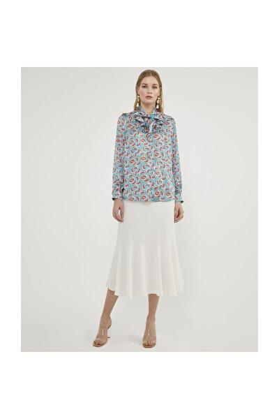 Kadın Karpuz Desenli Bluz V23150157