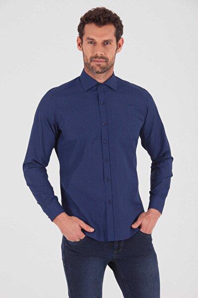 Slim Fit Lacivert Gömlek 19D190000147