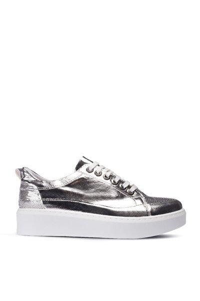 Gümüş Rengi Sneaker Kadın Ayakkabı