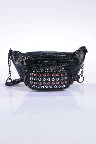 Kadın Siyah Bel Çantası 16090-siyah