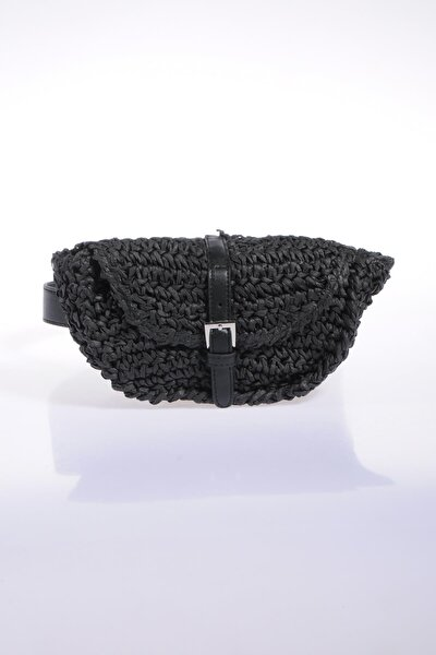 Kadın Siyah Bel Çantası sghsr1028-siyah