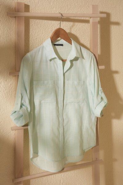 Mint Cep Detaylı Gömlek TWOSS19ST0057