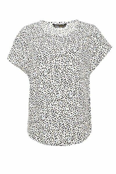 Kadın Beyaz Regular Fit Kısa Kollu Bluz N5527AZ.20SP.WT43