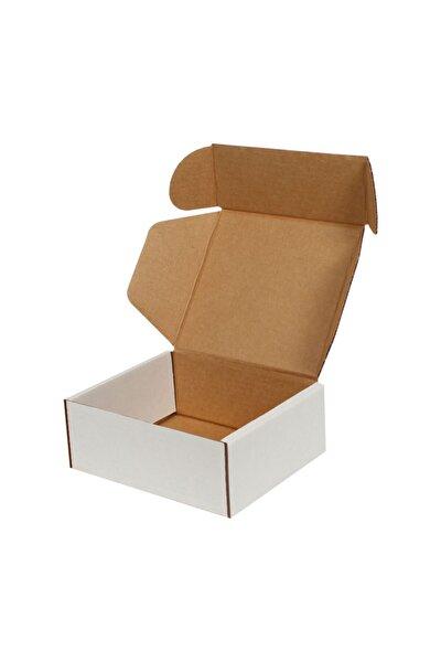 12x10x4,5cm Beyaz E-ticaret Kargo Kutusu [10 Adet]