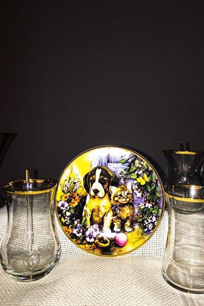 Çay Bardak Seti 12 Parça Gold