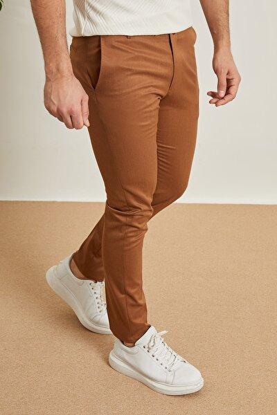 Erkek Camel Kumaş Pantolon