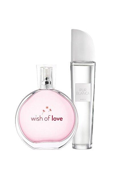Wish Of Love Ve Pur Blanca Kadın Parfüm Seti 2x50ml Edt