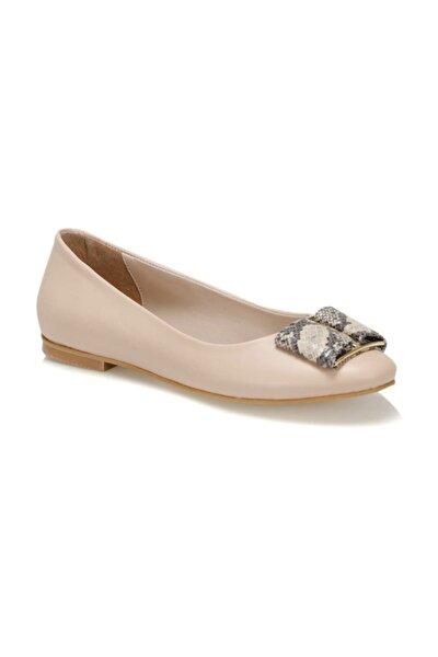 19S-203 Bej Kadın Topuklu Ayakkabı 100371324