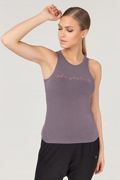 Mor Pamuklu Yoga Kadın Atleti FS-4018