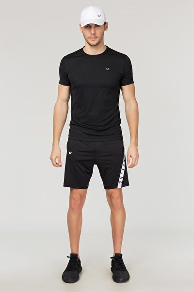 Siyah Erkek Antrenman T-Shirt FS-1332
