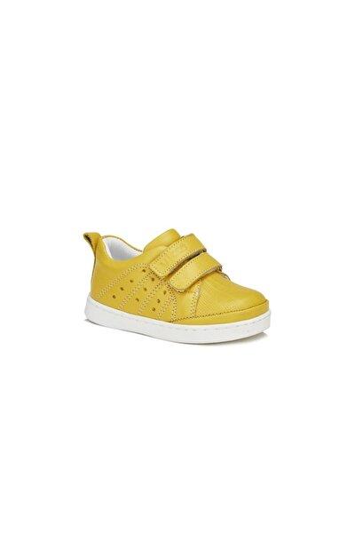 Unisex Ilk Adım Deri Ayakkabı Sarı