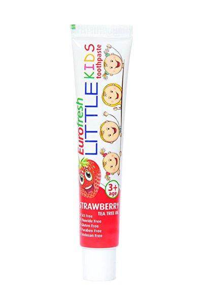 Eurofresh 3 Yaş Üzeri Çocuklar için Çilek Aromalı Diş Macunu- Little Kids 50 g 8690131674311
