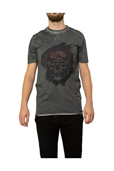 Kuru Kafa Baskılı T-shirt