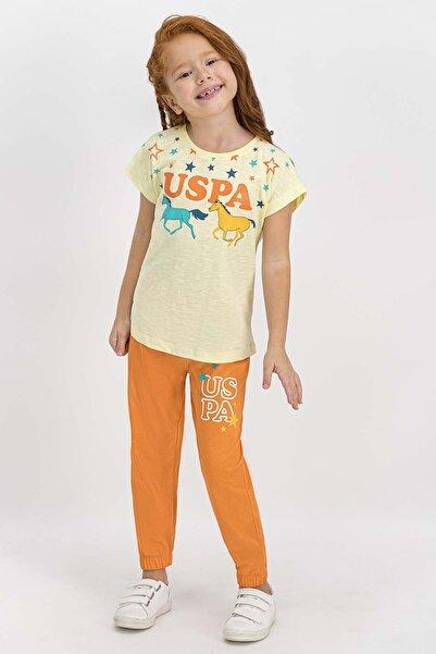 Lisanslı Açık Sarı Kız Çocuk Pijama Takımı