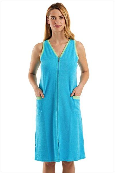 Kadın Turkuaz Havlu Plaj Elbisesi 59492