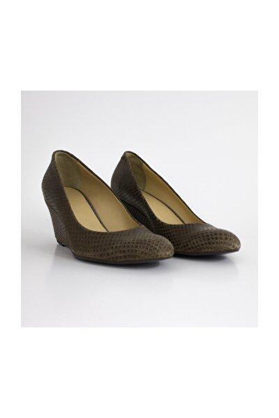 Hakiki Deri Kahve Feta Kadın Ayakkabı