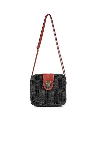 Siyah Hasır Kadın Çanta 1015