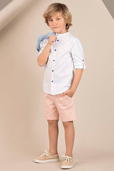 Hakim Yaka Düğmeli Erkek Çocuk Gömlek