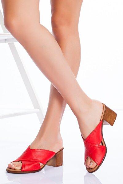 Hakiki Deri Kadın 5cm Topuklu sandalet