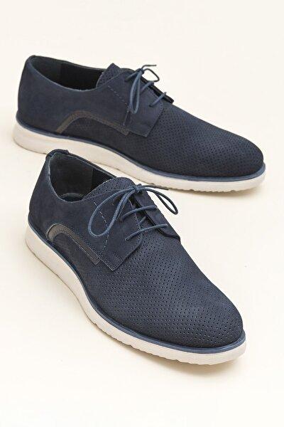 WADLEY Hakiki Deri Lacivert Erkek Ayakkabı