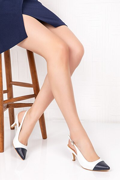 Hakiki Deri Klasik Topuklu Ayakkabı