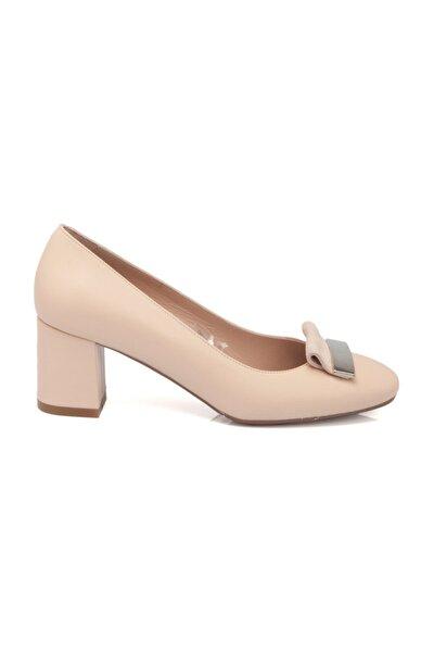 Pudra Deri Kadın Ayakkabı 64188T40