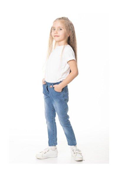 Kız Çocuk Klasik Mavi Kot Pantolon