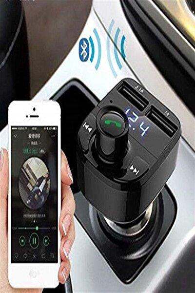 Car X8 Bluetooth Araç Kiti Fm Transmitter Çift Usb Girişli Hcg983-hvn