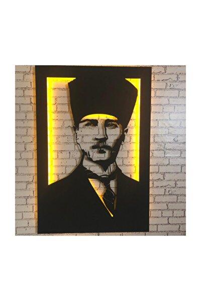 Ataturk V.4.1 Led Işıklı Tablo - Ahşap Duvar Dekorasyonu