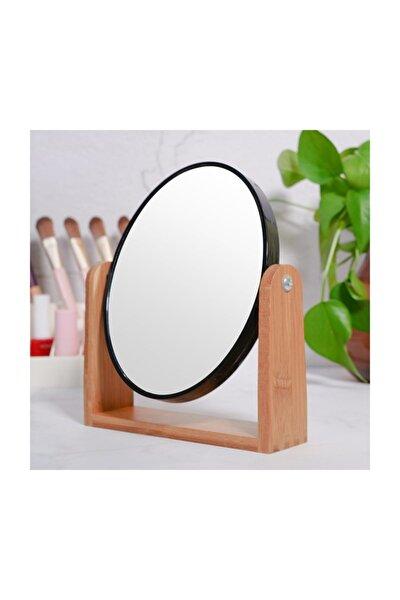 Bambu Ağacı Oval Masa Üstü Ayna