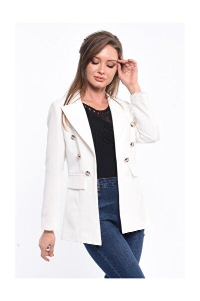 Kadın Beyaz Blazer Ceket 201830136