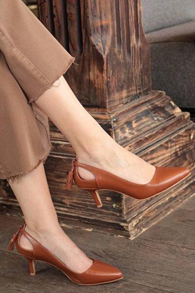 Taba Kadın Topuklu Ayakkabı 009037TA