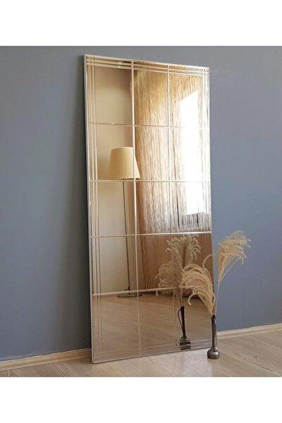 Neostill-Bronz Ayna Dekoratif Kare Desenli Duvar Salon Boy A308-D