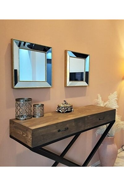 Neostill 2Li Dekoratif Duvar Salon Ofis Çerçeveli Ayna A403C