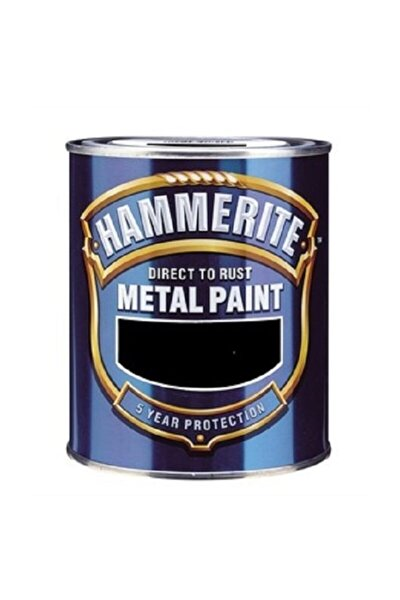 Hammerite Direk Pas Üstüne Düz Metal Boyası 0.75 Lt Siyah