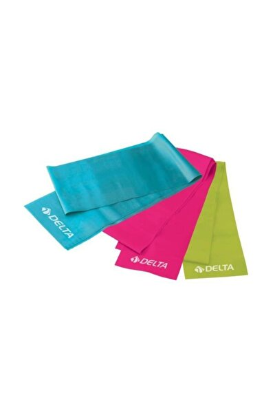 3 'lü Pilates Bandı Plates Egzersiz Direnç Lastiği Seti