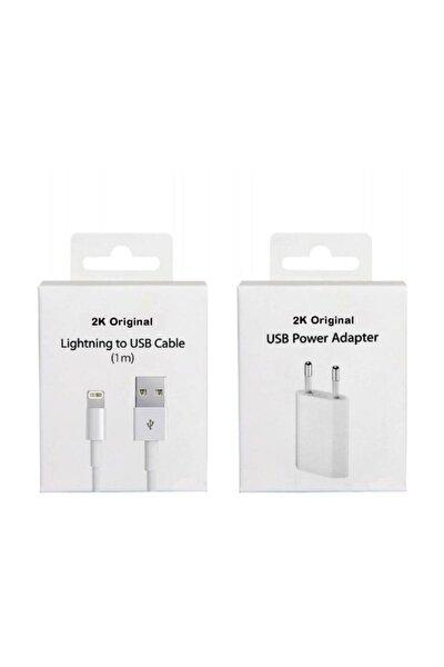 Apple Iphone Uyumlu Şarj Cihazı Ve Kablo Set