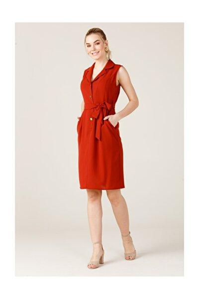 Kadın Kruvaze Yaka Elbise