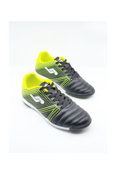 Siyah Yeşil Halı Saha Ayakkabısı