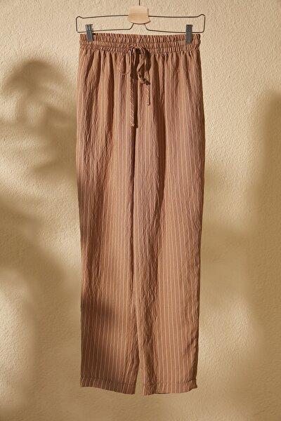 Bej Çizgili Pantolon TWOSS20PL0518
