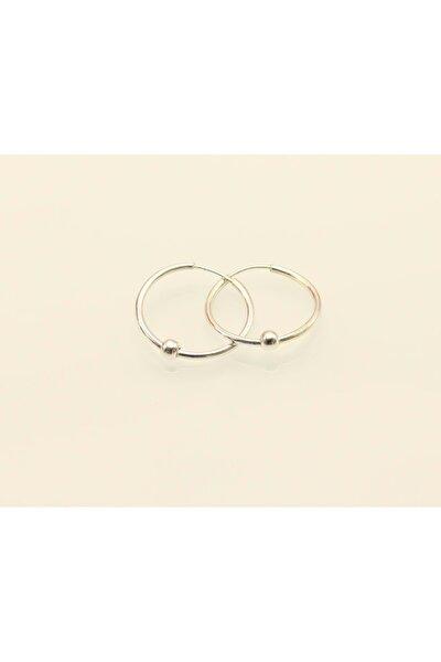 Oksitli Halka 17 mm Toplu Gümüş Küpe