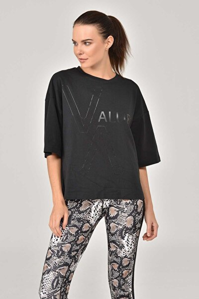 Siyah Kadın T-Shirt FW-1332