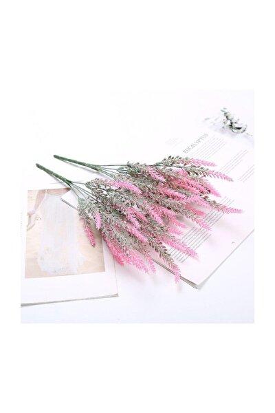 Yapay Çiçek Lavanta Pudralı Doku Aşırı Doğal Fuşya 25 Kafa