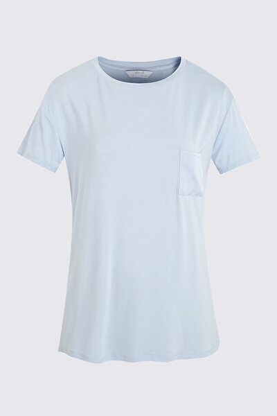 Kadın Mavi Pijama Üstü T37006112H