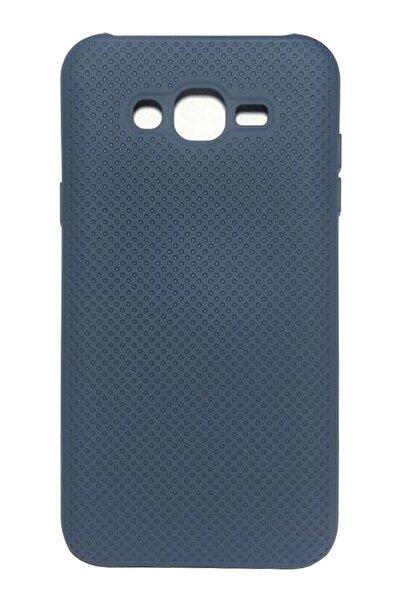 Samsung Galaxy J7 J700 Kılıf Fileli Kauçuk Leke Tutmaz Lacivert